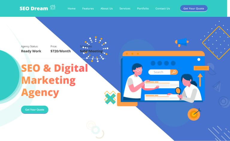SEO Dream – Free Bootstrap 5 HTML5 Digital Agency Website Template