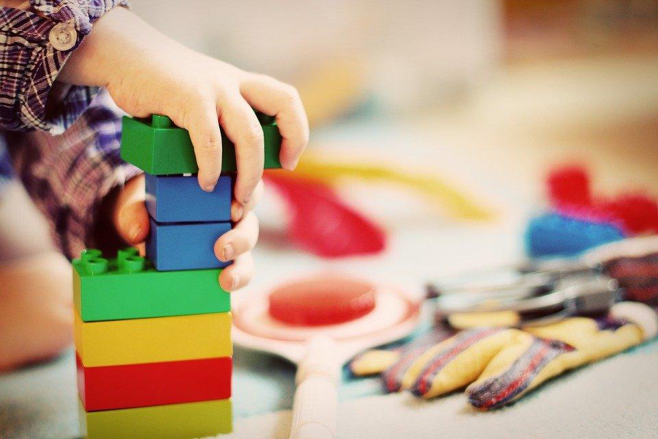 Children, towers, building blocks, blocks, wooden blocks