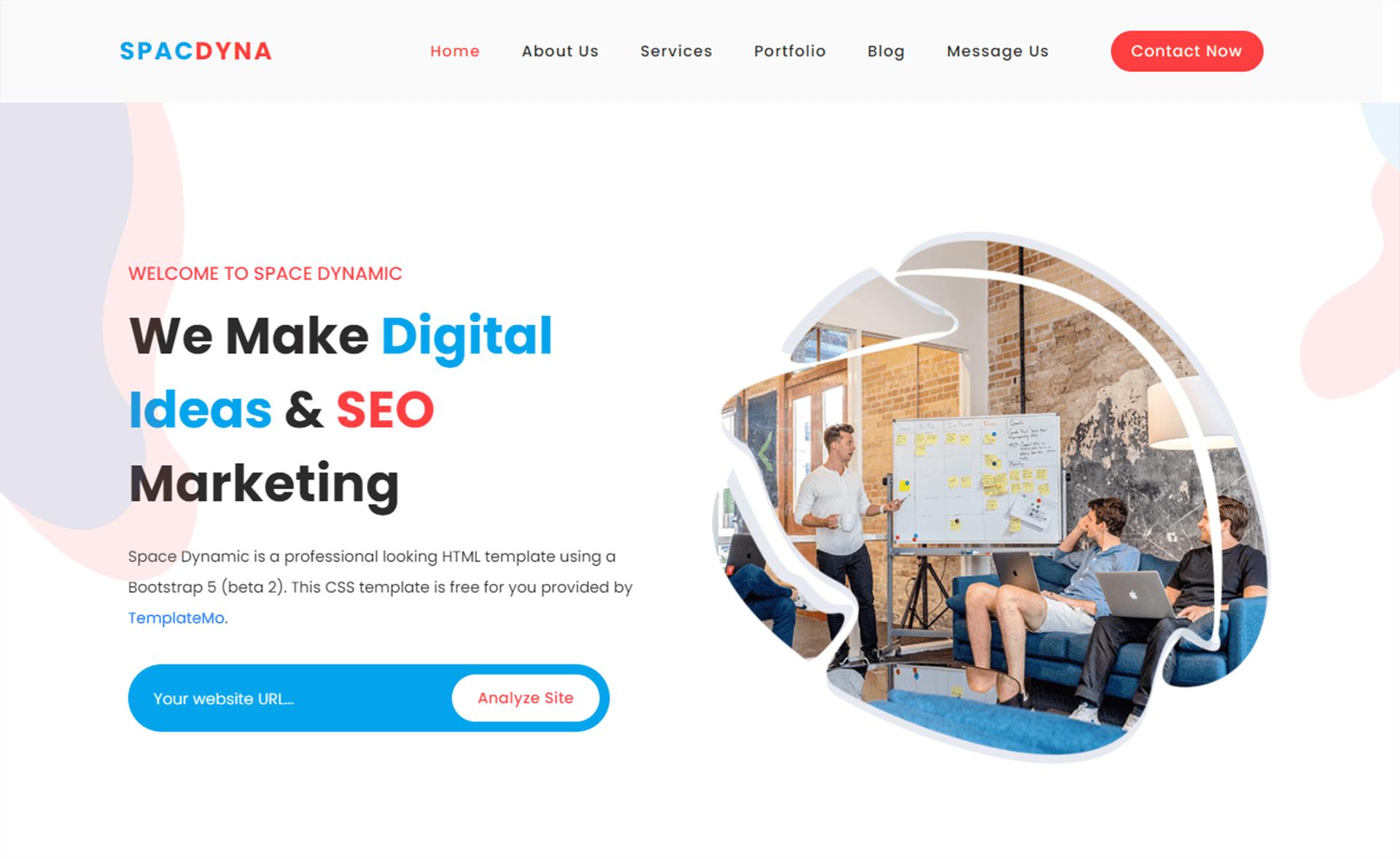Free Bootstrap 5 digital marketing template